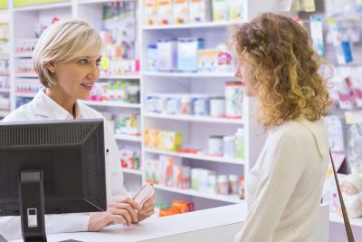 customer buy medicine