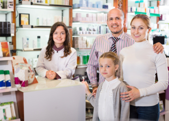 Family at the pharmacy