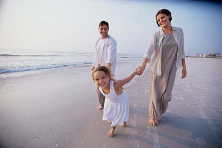 Family Bonding at the seashore